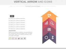 Four Staged Vertical Arrow And Icons Flat Powerpoint Design