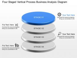 Four Staged Vertical Process Business Analysis Diagram Powerpoint Template Slide