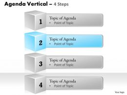 Four Staged Vertical Steps For Agenda Display 0214