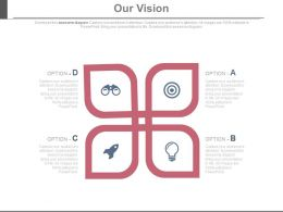 Four Staged Vision For Sales Growth Powerpoint Slides