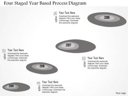 Four Staged Year Based Process Diagram Flat Powerpoint Design