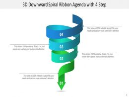 Four Stages 3d Downward Ribbon layout