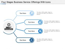 Four Stages Business Service Offerings With Icons