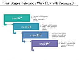 Four Stages Delegation Work Flow With Downward Arrows