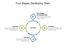 Four Stages Developing Team Ppt Powerpoint Presentation Professional Visuals Cpb
