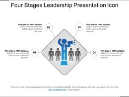 Four Stages Leadership Presentation Icon