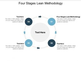 Four Stages Lean Methodology Ppt Powerpoint Presentation Ideas Design Cpb