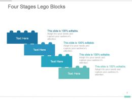 Four Stages Lego Blocks Presentation Graphic Slides