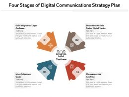 Four Stages Of Digital Communications Strategy Plan