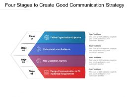 Four Stages To Create Good Communication Strategy