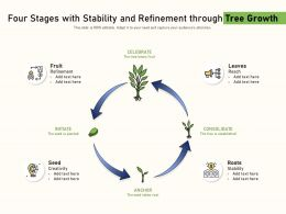 Four Stages With Stability And Refinement Through Tree Growth