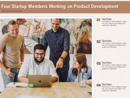 Four Startup Members Working On Product Development