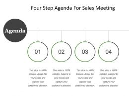 Four Step Agenda For Sales Meeting Example Of Ppt