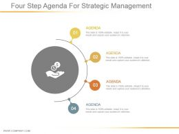 Four Step Agenda For Strategic Management Powerpoint Slides
