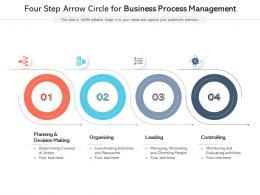Four Step Arrow Circle For Business Process Management
