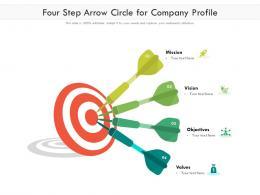 Four Step Arrow Circle For Company Profile