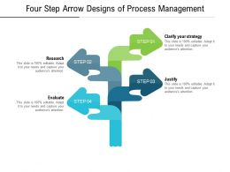 Four Step Arrow Designs Of Process Management