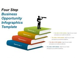 Four Step Business Opportunity Infographics Template Powerpoint Slide Designs