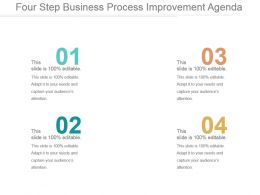 Four Step Business Process Improvement Agenda Ppt Background Images