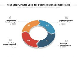 Four Step Circular Loop For Business Management Tasks