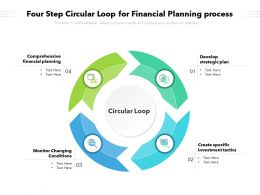 Four Step Circular Loop For Financial Planning Process