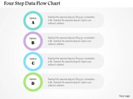 Four Step Data Flow Chart Flat Powerpoint Design
