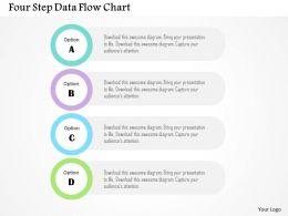 four_step_data_flow_chart_flat_powerpoint_design_Slide01