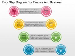 Four Step Diagram For Finance And Business Flat Powerpoint Design