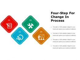 Four Step For Change In Process Ppt Images
