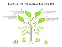 Four Step Tree Design With Text Holders