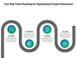 Four Step Future Roadmap For Organizational Target Achievement