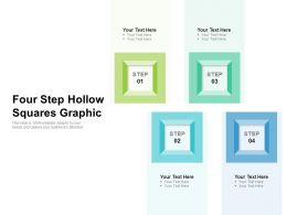 Four Step Hollow Squares Graphic