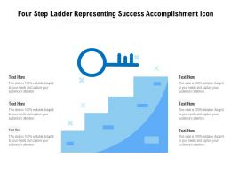 Four Step Ladder Representing Success Accomplishment Icon