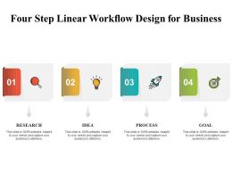 Four Step Linear Workflow Design For Business