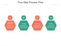 Four Step Process Flow Ppt Powerpoint Presentation Slides Structure Cpb