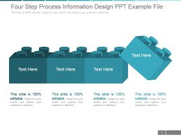 Four Step Process Information Design Ppt Example File