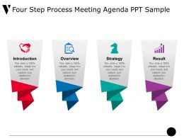 Four Step Process Meeting Agenda Ppt Sample