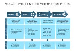 Four Step Project Benefit Measurement Process