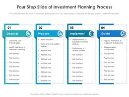 Four Step Slide Of Investment Planning Process