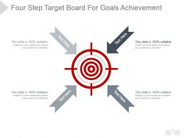 Four Step Target Board For Goals Achievement Ppt Diagram