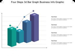 Four Steps 3d Bar Graph Business Info Graphic