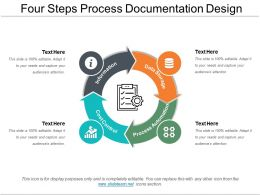 Four Steps  Process Documentation Design Powerpoint Ideas