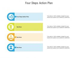 Four Steps Action Plan Ppt Powerpoint Presentation Layouts Picture Cpb