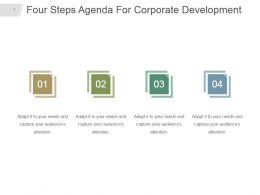 Four Steps Agenda For Corporate Development Ppt Slide