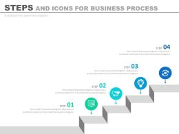 Four Steps And Icons For Business Process Analysis Powerpoint Slides