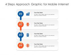 Four Steps Approach Graphic For Mobile Internet Infographic Template