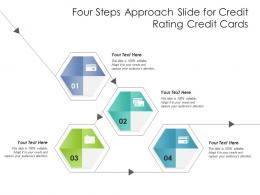 Four Steps Approach Slide For Credit Rating Credit Cards Infographic Template