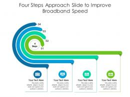 Four Steps Approach Slide To Improve Broadband Speed Infographic Template