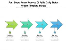 Four Steps Arrow Process Of Agile Daily Status Report Stages Infographic Template