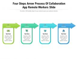 Four Steps Arrow Process Of Collaboration App Remote Workers Slide Infographic Template